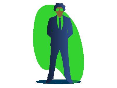 Coronavirus Economic Impact confident business man